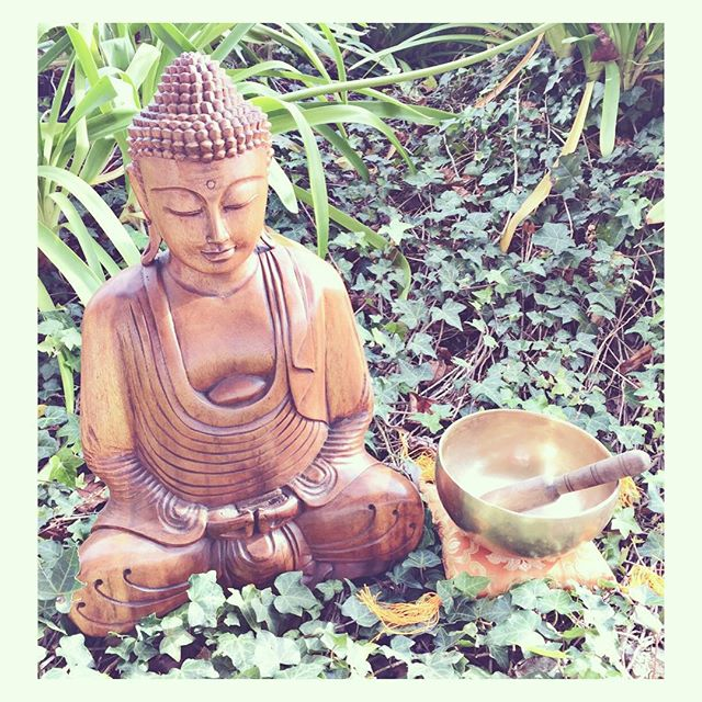 Beautiful #handcarved #buddha #statues from #bali just arrived! We also grabbed some stunning #handcrafted #sevenmetals #singingbowls ! Singing bowls and Buddha are great tools for creating #sacredspace and #energywork . Come make friends with these sweet guys!