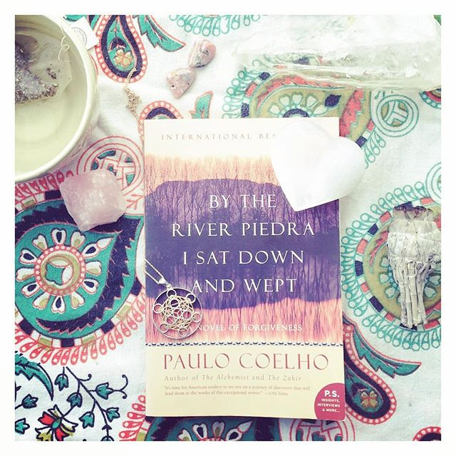 """He put down his coffee, lit a cigarette, and looked at the ceiling for a long time. Then he turned to me. 'It's a very simple sentence,' he said. 'I love you.'"" - Paulo Coehlo. #bytheriverpiedraisatdownandwept #paulocoelho #sundayessentials"