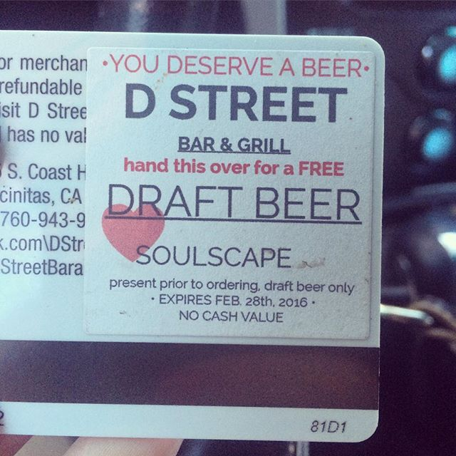 We are surprising some of our shoppers today with a beer at #DstreetBarandGrill on us! Sometimes finding that perfect gift is hard work!