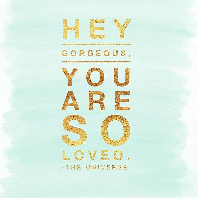 The #universe loves you and so do we! #love #universallove #yourekindofabigdeal #loveyourself #youresobeautiful