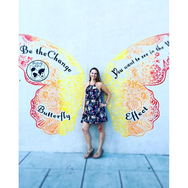 So much fun yesterday! Come and check out all the new murals in downtown #Encinitas, stop by #detour salon, take a pic with the wings and hashtag it #butterflyeffect  and #broam. Hurry! Before it's gone!