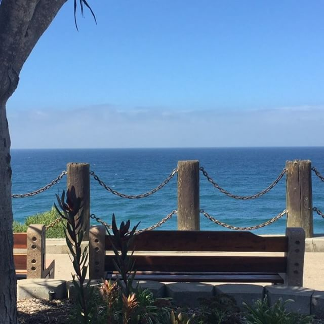 The #ocean is #clearing and so is the treat we just hid at this gem of a location! #soulscapefallscavenger #encinitas #beach #view