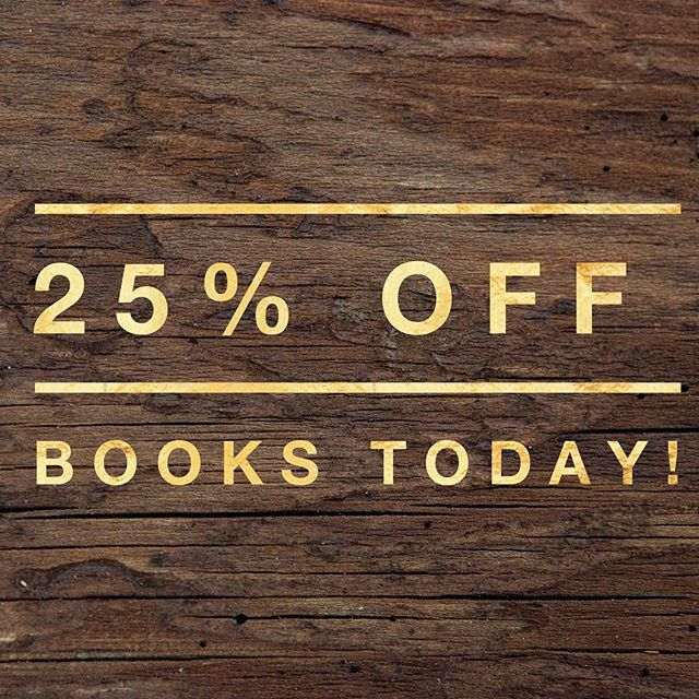 We're still #celebrating ! Today (October 22, 2016), enjoy 25% off #books !