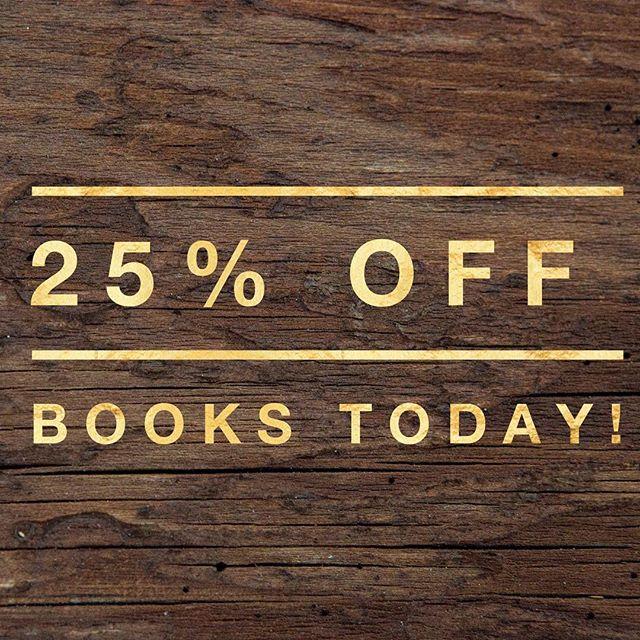 We're still #celebrating ! Today (October 22, 2016), enjoy 25% off #books !