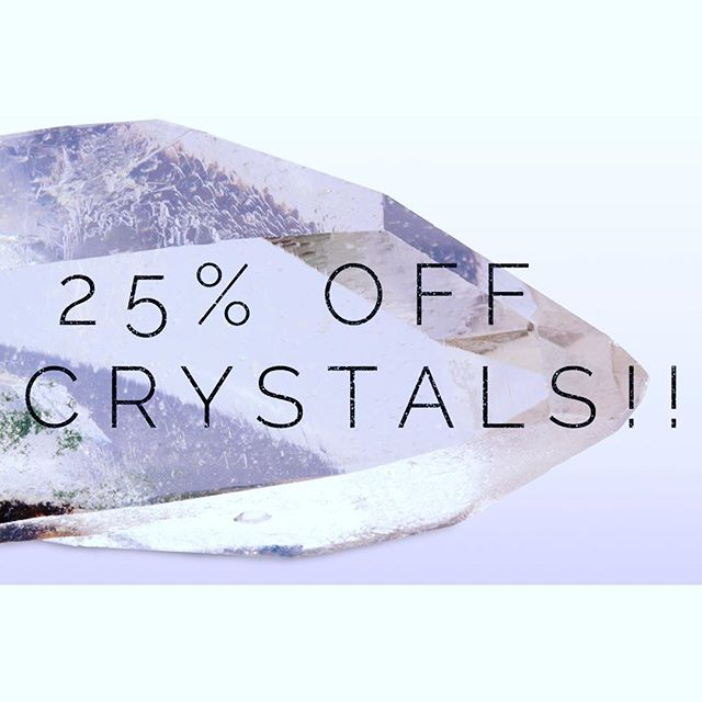 Did you miss our last #crystal #sale ? Well, don't you worry! Today (October 23, 2016), take 25% off your crystal purchases! (Discount available for in stock items only, no holds or special orders. loose crystals only. Jewelry, water bottles, crystal grid sets and salt lamps among exclusions. Please see sale associate for details.)
