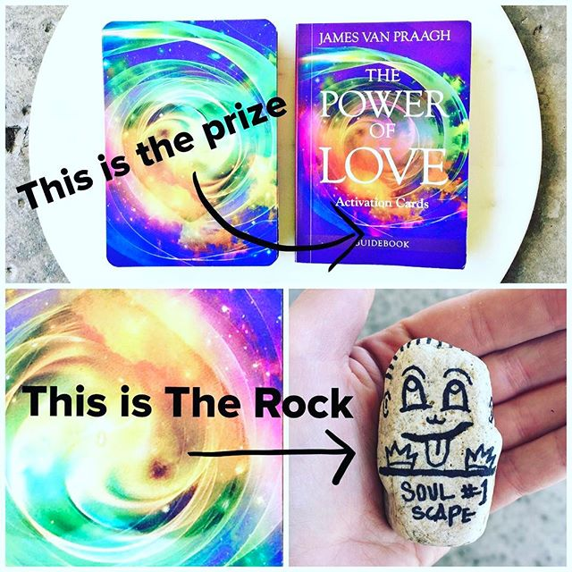 This happy guy is hiding somewhere in #downtownEncinitas,  checking out the surf conditions, possibly singing his ABC's and people watching as they go up and down the stairs (clue #1). Find him to win James Van Praagh's new #oracle deck, The Power of Love Oracle Cards! ...Rules: find #TheRock, post + hashtag #soulscape + #jamesvanpraagh on Instagram (or DM pic if your account is private). Bring the Rock to James Van Praagh booksigning, 7-8:30pm, June 29th to exchange for your prize, The Power of Love Oracle Deck! One prize per person please. We will contact you to confirm. Now GO!