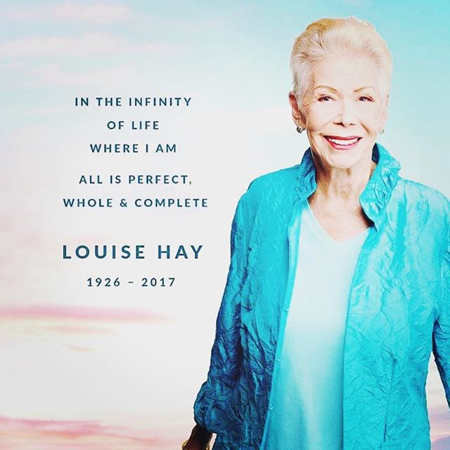 I woke this morning to the news that Louise Hay has left this plane of existence and rejoined the Light. I will honor her today and always for paving the way for independent bookstores like me to think differently than we were raised and for her books that fueled the faint voice inside me, telling me to love myself so long ago. And for the loving support of the books of so many other Lightworkers, sharing their wisdom through her publishing house right here in Carlsbad. I have been lucky to meet Louise many times over the last 19 years, she came into SoulScape often, her smile was genuine, and her eyes were always kind, shining at you with the truth of her Light.  You will be missed Louise Hay, but honored for your Light and Life always.