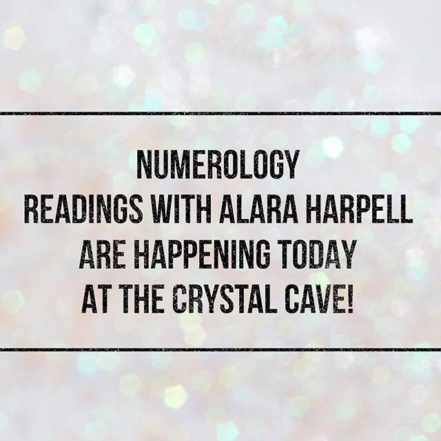 Stop by the @soulscapecrystalcave today until 6pm for a #numerology reading from Alara Harpell! Prices start at $2/minute. Call for further information or to book an appointment 760.753.2345.