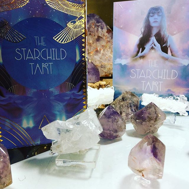 Anyone else look up at night at the stars and wonder which one is home? I am so super excited to spend some time with our newest deck the #StarChildTarot. Any other favorite decks we should stock our shelves with?