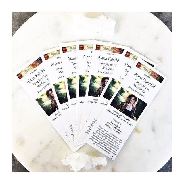 Tickets for our @alana_fairchild  #templeofisis event are on sale today! We are so excited for this event with Alana on June 4th, 2018 from 10-3pm! We do anticipate this event will sellout. Get your tickets before March 31st for early bird pricing ($149/ ticket) Questions? Give us a call at 760.753.2345