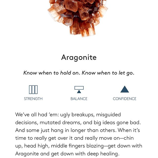 I just downloaded (and spent my entire morning exploring - sorry I'm late megan) the BEST crystal meaning app EVER. Check it out! Search the App Store for  STONE  While it doesn't have every crystal on it, there are most of my favorites and it's like they have read my secret thoughts in describing their properties. Like this one - #aragonite is my personal stone and this description has hit the nail on its head.  What are some of your favorite resources? Books? Blogs? Teachers? What else don't I know about?