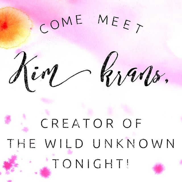 Yay!!! Today is the day we welcome @kim_krans to #soulscape ! Stop by tonight from 6:30-7pm to meet Kim and get your @the_wild_unknown #tarot deck and/or #wildunknownjournal signed!! You can also pick up some limited edition tour swag from Kim herself! We are so excited to meet Kim and hope to see you there!!