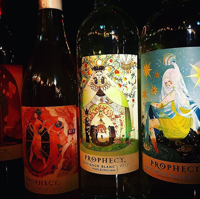 Wow! check out the #tarot art on these wine labels!We had a great staff party this weekend to get us pumped for the holidays! We are ready to help you find that perfect gift, come see us, we are open until 9pm! (Sunday 7:00pm) #prophecywine @prophecywines