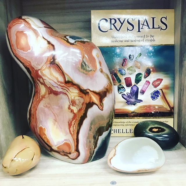 """CRYSTAL SALE 25% off all CRYSTALSThis year we are highlighting a different rock star every few days at 44% off as our """"Crystal of the Moment"""" One of my favs - POLYCHROME JASPER (pictured) is first up at #Soulscape, come snag one for 44% off! Visit us across the street at our  @SoulScapeCrystalCave to see what their #crystaloftheMoment is! Check back every few days to discover what 2 beauties we will feature next! (Pssst.... The faster we sell out of the featured crystal, the faster we move to the next on our list!) ......All crystals will be 44% off for the last two days 2/9-2/10/19, Sale ends 7pm 2/10/2019. exclusions apply, see associate for details. No holds, all sales final. Not valid on previous purchases and in stock items only."""