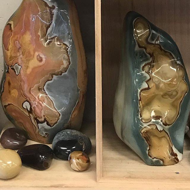 44% off for a limited few more days! Our #crystalofthemoment 🧡POLYCHROME JASPER 🧡 This is a stone of action as it promotes motivation, determination and fulfillment of your desires. It is related to the fire element and can invigorate your passion and drive you to seek what pleases you. When you work with Polychrome Jasper in meditation you find great stimulation of your creative thought process and your creative mind.
